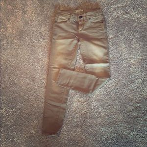 Free people nude color skinny jeans size 24